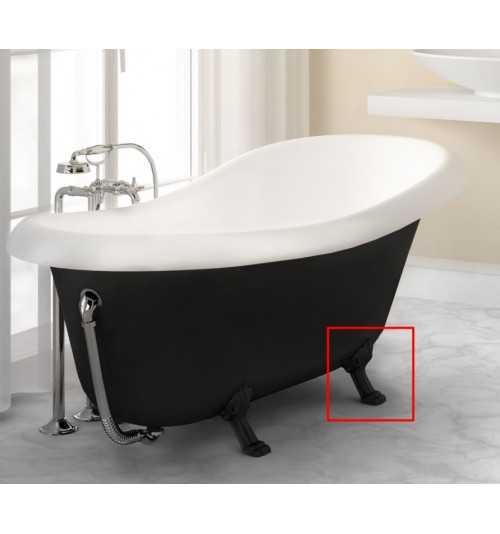 Juodos kojų apdailos voniai Fama