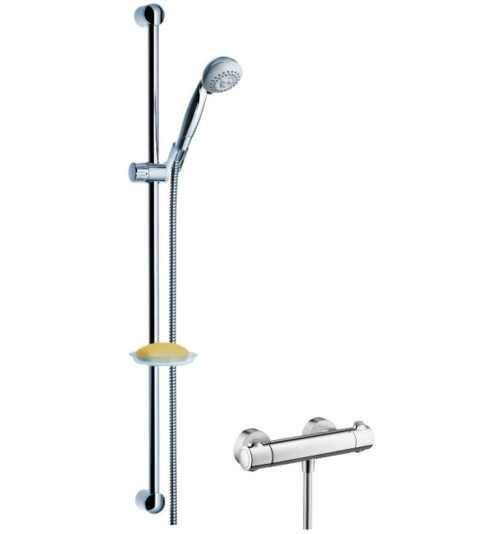 Termostatinis dušo maišytuvas Ecostat su dušo komplektu Croma 2Jet
