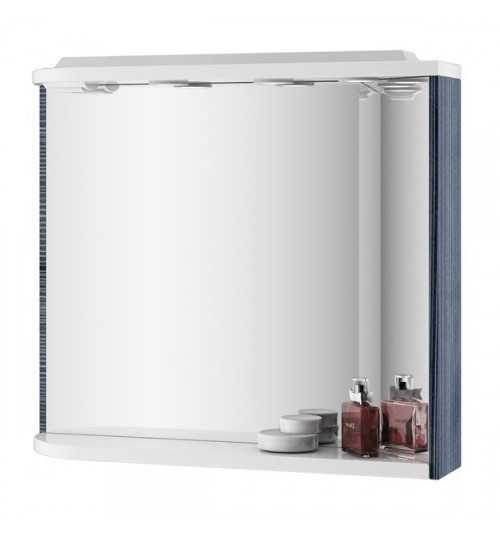 Ravak M 780 veidrodis su integruotais šviestuvais, elektros lizdu, lentynėle beržo/baltas K