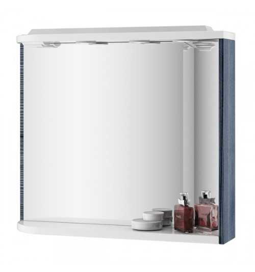 Ravak M 780 veidrodis su integruotais šviestuvais, elektros lizdu, lentynėle StripOnyx/baltas D