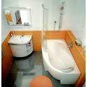 Ravak SDU Rosa Comfort praustuvo spintelė su lentynėlėmis ir stalčiais balta/balta D