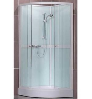 Pusapvalė dušo kabina su galinėm sienelėm