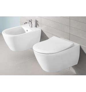 Pakabinamas unitazas Villeroy & Boch Subway 2.0 su soft-close slim dangčiu