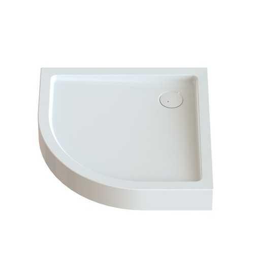 Pusapvalis dušo padėklas Free Compact 90x90x15 su sifonu