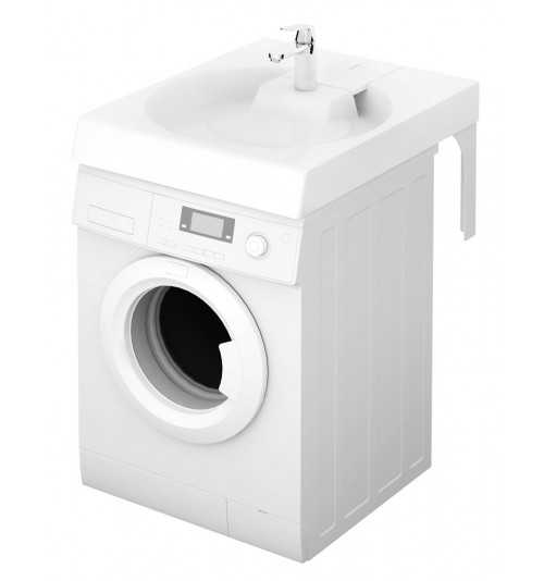 Akmens masės praustuvas Claro Grande 600x750 montuojamas virš skalbimo mašinos