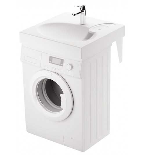 Akmens masės praustuvas Claro Grande 600x600 montuojamas virš skalbimo mašinos