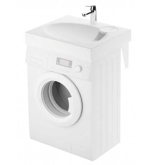 Akmens masės praustuvas Claro Mini 600x500 montuojamas virš skalbimo mašinos