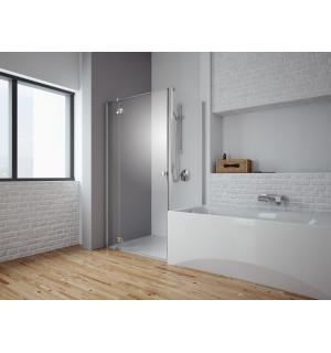 Nestandartinė dušo kabina Almatea KDJ prie vonios