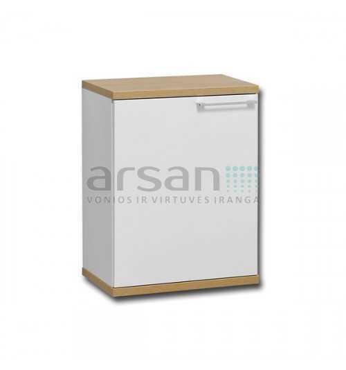Apatinė ūkinė vonios spintelė Bona BAU48 su atverčiamu skalbinių stalčiumi 626x480x330 (AxPxG)