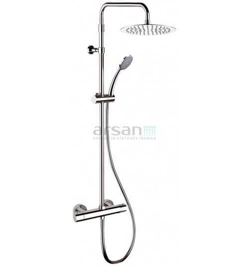 Termostatinė dušo sistema Suvi Comfort XXL su Slim R300 lietaus dušo galva ir rankiniu dušeliu