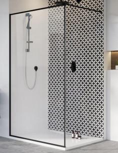 Radaway Modo New Black II Frame nejudanti dušo sienelė