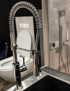 Maišytuvas plautuvei TOP-TRES 555/180 su lanksčia žarna ir dvigubu dušeliu