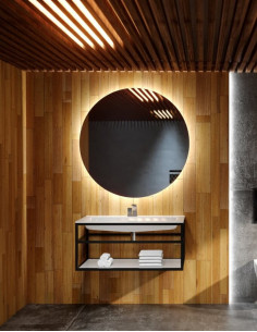 Apvalus veidrodis CERCHIO Z su LED apšvietimu