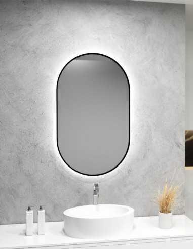 Ovalus veidrodis LISA PLUS su LED apšvietimu