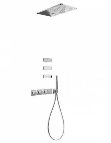 Termostatinis potinkinis dušo komplektas Tres Block 3jets kaskada