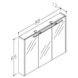 Vonios baldų komplektas JOY 90 (3 dalių)