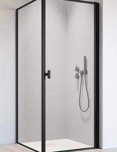 Kampinė dušo kabina Nes 8 Black KDJ I Frame