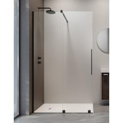 Radaway Furo Black Walk-in nejudanti dušo sienelė