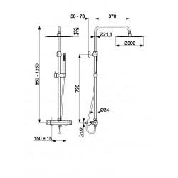 MOZA Premium termostatinė dušo sistema