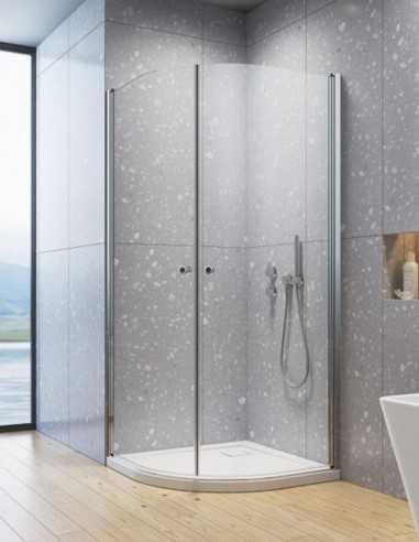 Radaway Eos PDD I pusapvale dušo kabina su į vidų ir išore varstomomis durimis