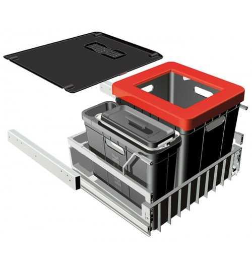 Franke durelėmis atidaromos šiukšlių rūšiavimo sistema Sorter 300 Composta 40L+5,5L 121.0049.277