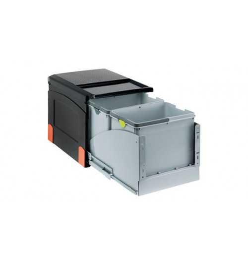 Franke durelėmis atidaromos šiukšlių rūšiavimo sistema Cube 41 atidarymas durelėmis, 2x18L 134.0055.274
