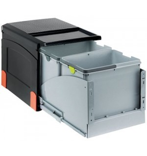 Franke durelėmis atidaromos šiukšlių rūšiavimo sistema Cube 41 atidarymas durelėmis, 2x8L+18L 134.0055.275