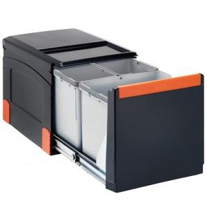 Franke automatinio atidarymo šiukšlių rūšiavimo sistema Cube 41 automatinis atidarymas, 2x8L+18L 134.0055.273