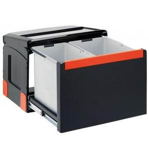 Franke ranka atidaroma šiukšlių rūšiavimo sistema Cube 50 atidarymas ranka, 14L+18L 134.0055.289