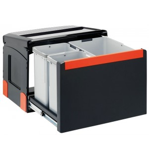 Franke ranka atidaroma šiukšlių rūšiavimo sistema Cube 50 atidarymas ranka, 14L+2x8L 134.0055.291