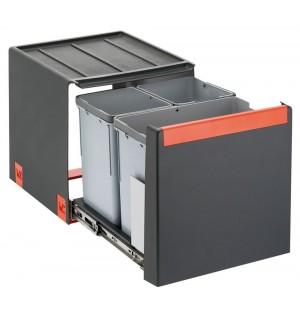 Franke ranka atidaroma šiukšlių rūšiavimo sistema Cube 40 atidarymas ranka, 14L+2x7L 134.0039.329