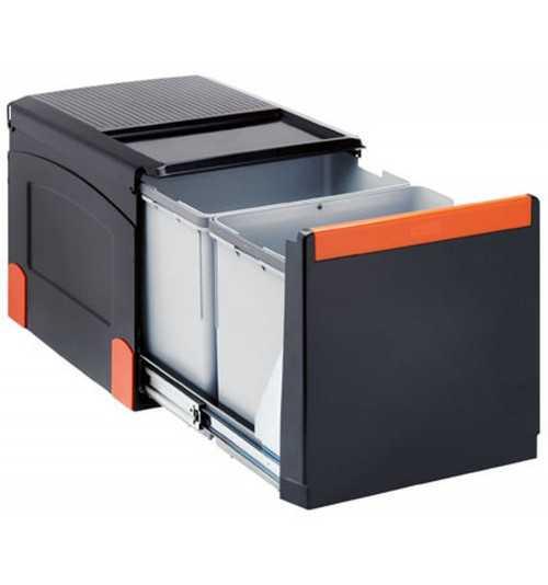 Franke ranka atidaroma šiukšlių rūšiavimo sistema Cube 41 atidarymas ranka, 2x18L 134.0055.270