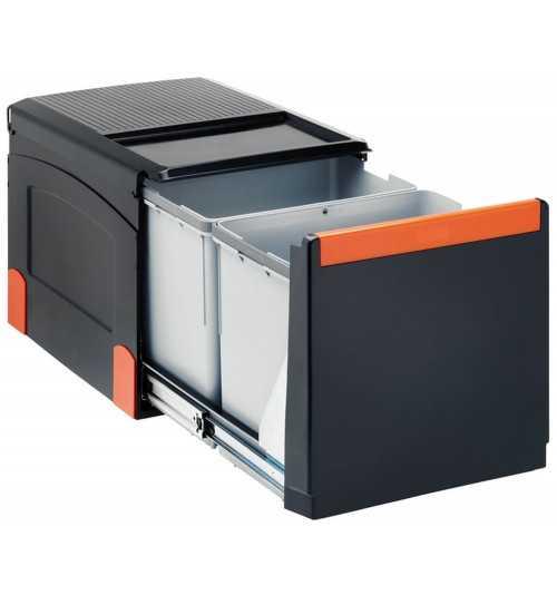 Franke ranka atidaroma šiukšlių rūšiavimo sistema Cube 41 atidarymas ranka, 2x8L+18L 134.0055.271