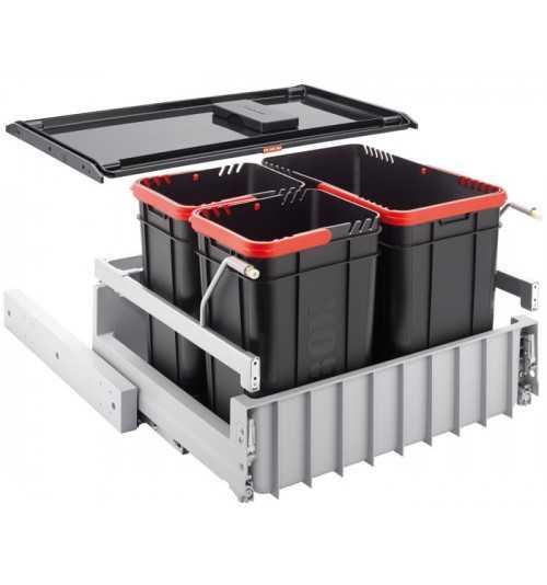 Franke durelėmis atidaromos šiukšlių rūšiavimo sistema Sorter 300-60 3 kibirėliai 22L+2x10L 121.0150.146