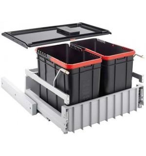 Franke durelėmis atidaromos šiukšlių rūšiavimo sistema Sorter 300-60 2 kibirėliai 2x22L 121.0150.143