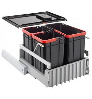Franke durelėmis atidaromos šiukšlių rūšiavimo sistema Sorter 300-45 3 kibirėliai 22L+2x10L 121.0150.145