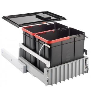 Franke durelėmis atidaromos šiukšlių rūšiavimo sistema Sorter 300-45 2 kibirėliai 2x22L 121.0150.144