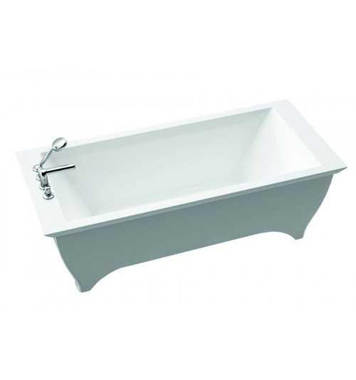 Akmens masės vonia TEODOR su uždanga 1800x750