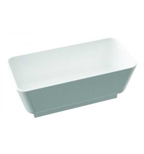 Akmens masės vonia BALTA juodu pagrindu 1570x750
