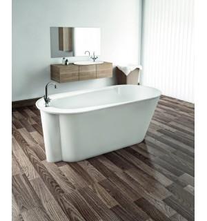 Akmens masės vonia ALTA su uždanga 1560x730