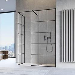 Walk In stacionarios dušo kabinų sienelės ir pertvaros