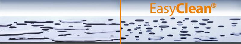 Apsauginio dušo kabinos stiklo Easy Clean dangos palyginimas