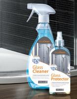 Dušo kabinos stiklo valikliai Glass Cleaner ir Glass Protector